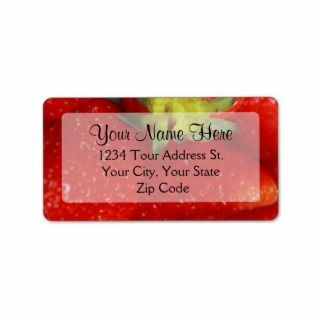 Strawberry Address Labels