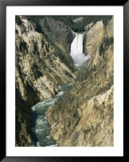Lower Falls 94M High, Grand Canyon of the Yellowstone River, Yellowstone National Park, Wyoming Pre made Frame
