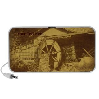 Vintage Wooden Water Wheel Doodle Speaker