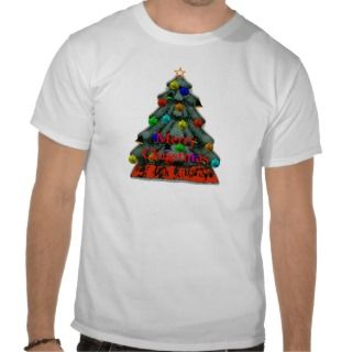 Christmas Tree Decorated The MUSEUM Gifts Tee Shirt
