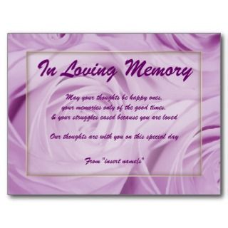 In Loving Memory Postcards & Postcard Template Designs