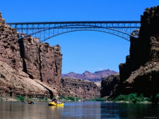 Highway 89A Bridge, Colorado River, Grand Canyon National Park, Arizona Photographic Print by John Elk III