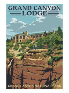 Grand Canyon National Park   Lodge View Print