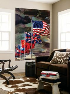 Allied Forces Flags, July 3, 1943 Wall Mural by John Atherton