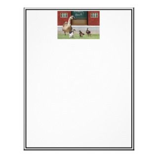 Crossing Guard w/Kids & Stop Sign Letterhead Template