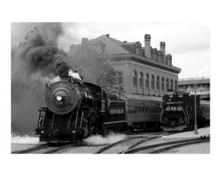 Steam Locomotive Photographic Print by Clarence Carvell