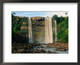 Salto Kama (Kama Falls) in the grassy highlands of La Gran Sabana, Canaima National Park, Venezuela Pre made Frame