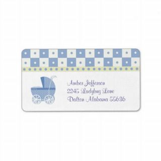 Baby Carriage Address Labels