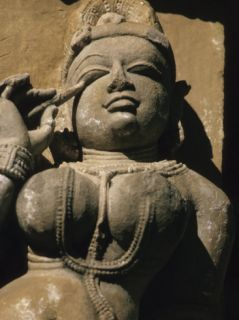 Indian Woman Sculpture, India Photographic Print