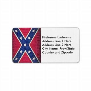 Redneck Confederate Flag   Woven Thread Style Custom Address Labels