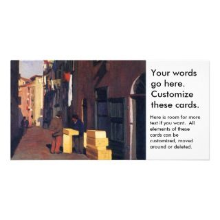 Old Street in Nice France painting art Vallatton Photo Card