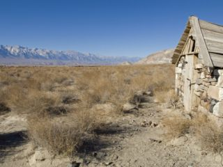 Old Rock Cabin at Dolomite Along Highway 136 Across the Owens Valley, California Photographic Print by Rich Reid