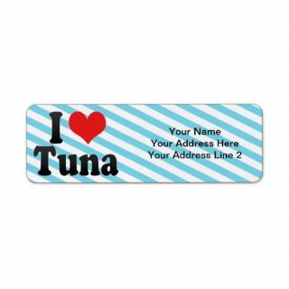 Love Tuna Return Address Labels