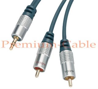 High End KLINKE 3,5 3,5mm 2* Chinch Audio Kabel 10m