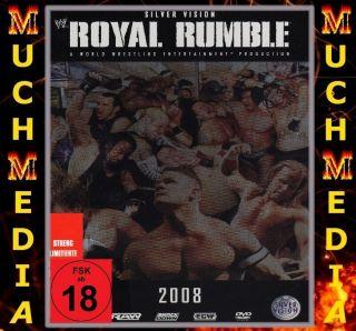 WWE Royal Rumble 2008 STEELBOOK DVD DEUTSCH NEU