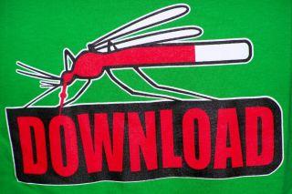 pc  blood moskito blut sauger neird gamerhacker fun shirt gr L