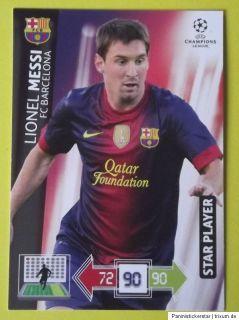 Panini Champions League CL 2012 2013 Messi Starplayer Adrenalyn XL
