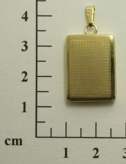 Anhänger 585 14 kt. Gold Gelbgold Medaillon rechteckig