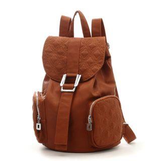 Damen Rucksack Girl Schulrucksack Old School Style Backpack Leder Look