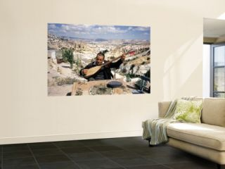 Turkish Man Playing a Type of Mandolin Called a Sis Wall Mural by Bill Ray