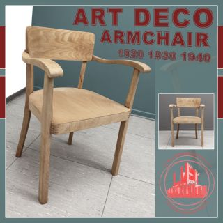 NICE & RUSTIC ART DECO EASY CHAIR STUHL SESSEL FAUTEUIL ! RESTORED