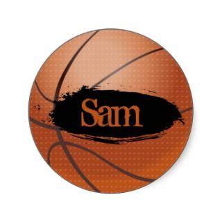 Sam Grunge Style Basketball Sticker