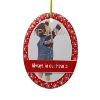 Child memorial photo PERSONALIZE Christmas Ornaments