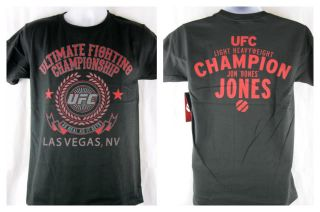 UFC Classic Jon Bones Jones T shirt Black Light Heavyweight Champion