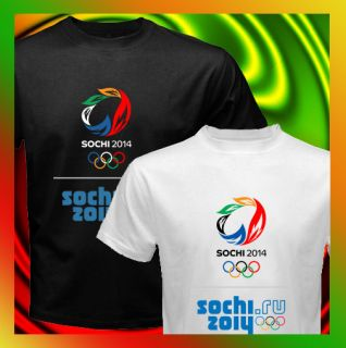 SOCHI Winter Olympics 2014 LOGO Mens T Shirt S M to 3XL