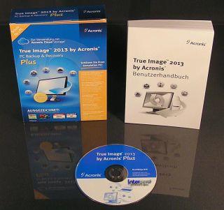Acronis True Image 2013 Plus + Universal Restore Vollversion Box + CD