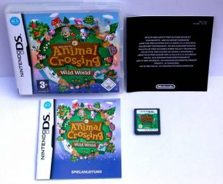 NINTENDO DS SPIEL ANIMAL CROSSING WILD WORLD  KOMPLETT DEUTSCH/ TOP