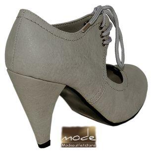 SDS Ankle High Pumps Boots Stiefel Stiefeletten Grau 41