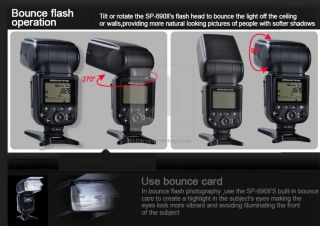 OLOONG TTL Auto Zoom Wireless Flash Speedlight Light SP 690 II For