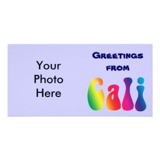 Cali Tie Dye California Hippie Logo Custom Photo Card