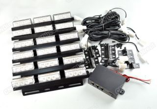 New 54 LED Car/Truck Strobe Blink Flash Yellow Lights/Light bars for