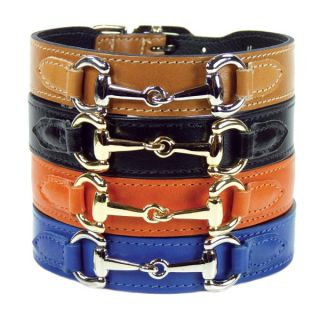 Hartman & Rose In the Style Gucci Style Leather Dog Collar   Dog   Boutique