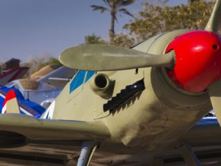 Avia S 199 Fighter, Hatzerim Israeli Air Force Base, Air Force Museum, Be Er Sheva, Negev, Israel Photographic Print by Walter Bibikow
