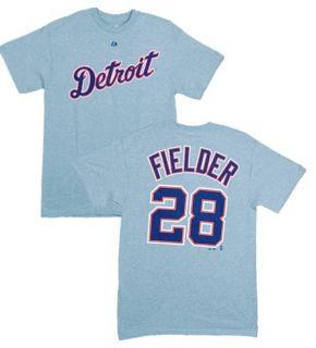 MLB Baseball Name&Number T Shirt DETROIT TIGERS Prince Fielder #28
