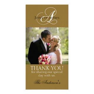 bride & bouquet, wedding thank you for wedding gift Card