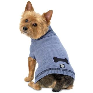 PetRageous Designs Cali's Cable Dog Sweater   Blue