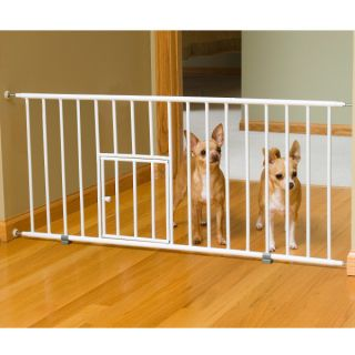 Step Over Mini Gate with Pet Door    Gates & Exercise Pens   Dog