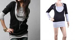 Top Shirt Damen T shirt Damen Fashionable Modern Hoody Hooded Hoodie