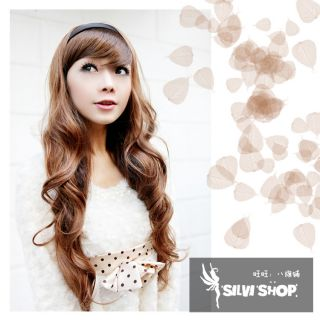 One Piece long curly wavy hair extension clip on half head 147
