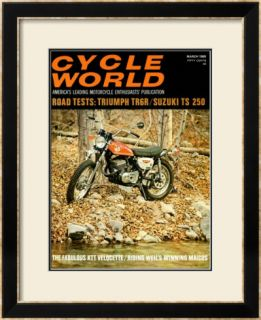 Cycle World, Suzuki TS 250 Framed Giclee Print