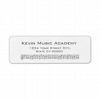 Music Score Return Address Labels