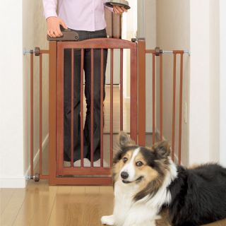 Richell USA One Touch Pet Gate   Dog   Boutique