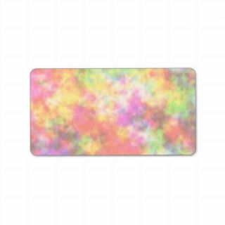 Rainbow Colors. Pretty, Colorful Clouds. Personalized Address Label