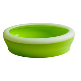 Pet Ego Vicci Cat Litter Box   Pistachio   Oval shaped with a removable rim designed to keep litter inside the box, Made of polypropylene, Made in Italy