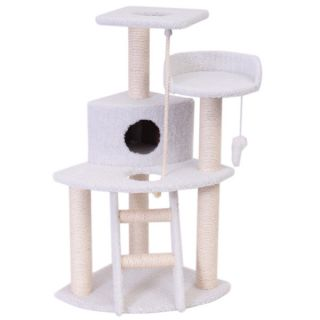 "Majestic Pet Products 48"" Bungalow Cat Tree   Furniture & Towers   Furniture & Scratchers"