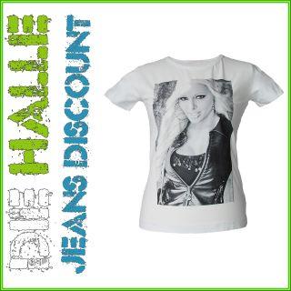 Daniela Katzenberger Damen T Shirt Dani mit Fotoprint Weiß XS XL